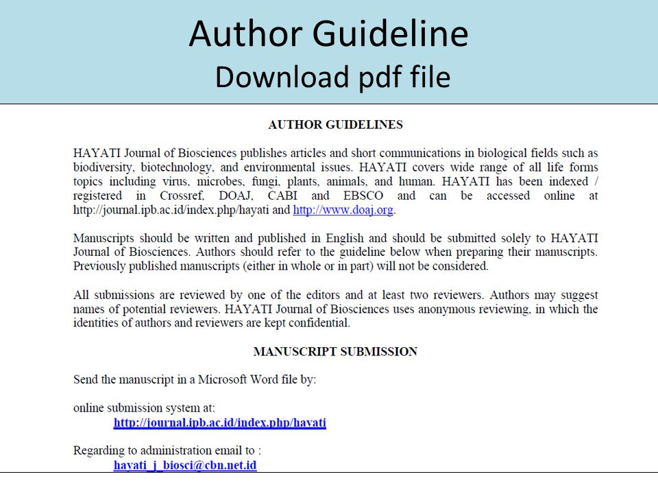 Author Guideline Download pdf file