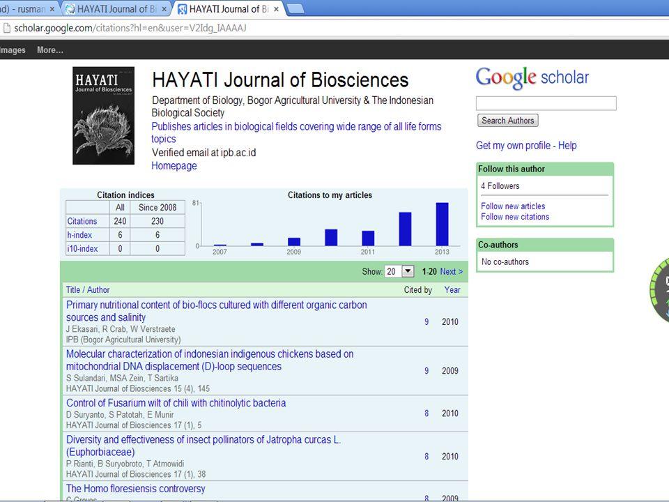 Pengelolaan Hayati J Biosci49