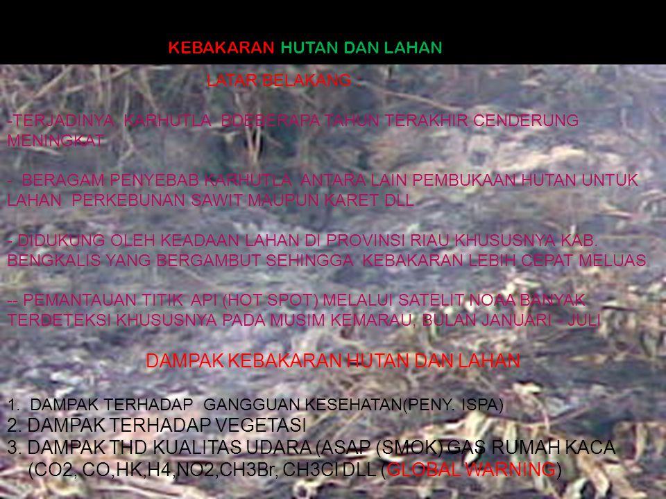 4.DAMPAK KARHUTLA THD HIDROLOGI DAN KUALITAS PERAIRAN 5.