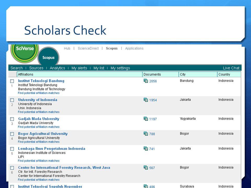 Scholars Check