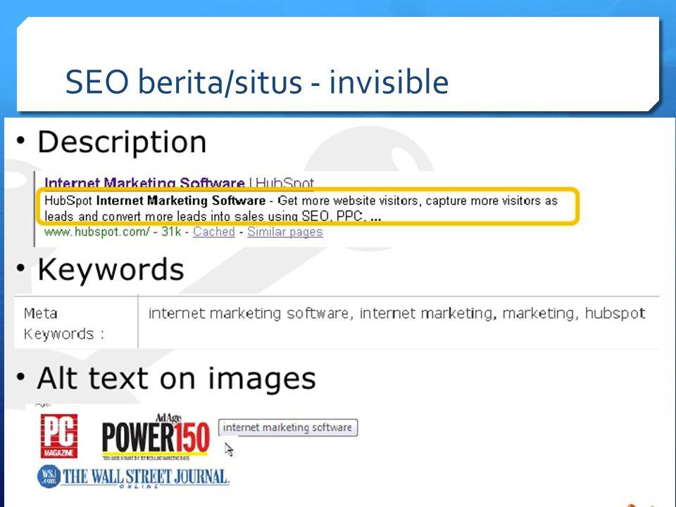 SEO berita/situs - invisible