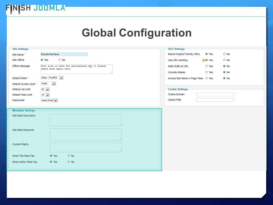 Global Configuration