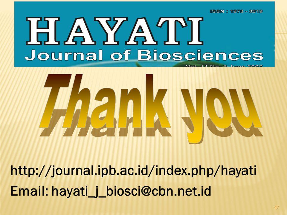 47 http://journal.ipb.ac.id/index.php/hayati Email: hayati_j_biosci@cbn.net.id