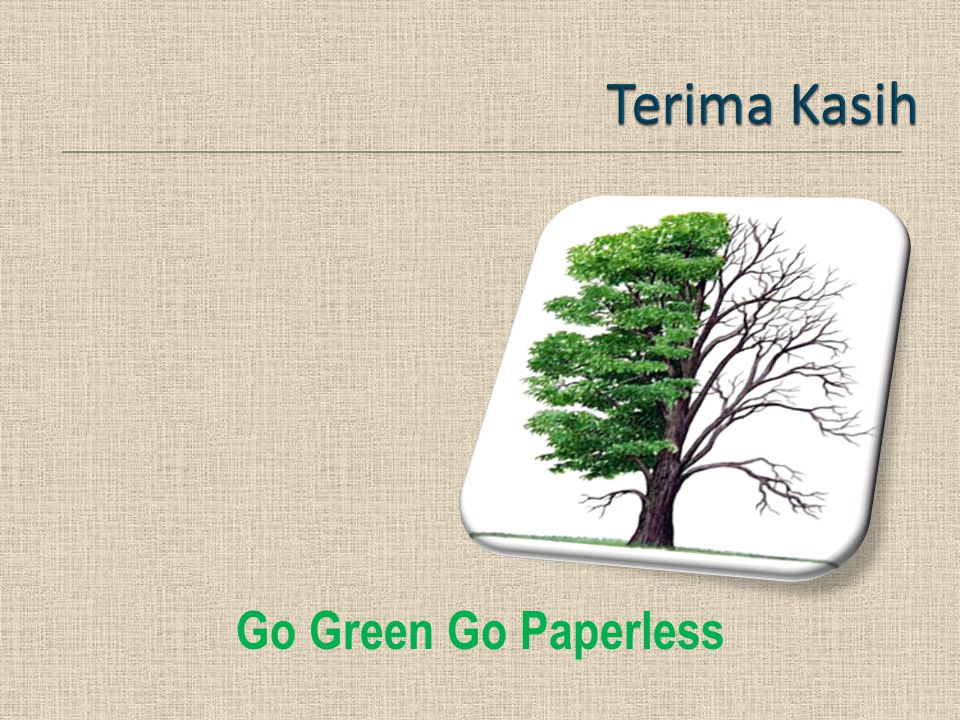 Go Green Go Paperless