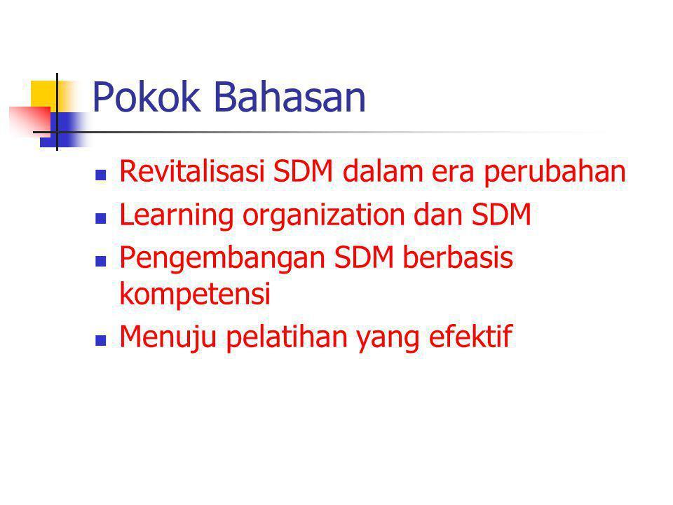 1.Revitalisasi SDM dalam era perubahan Pergeseran paradigma bisnis: 1.
