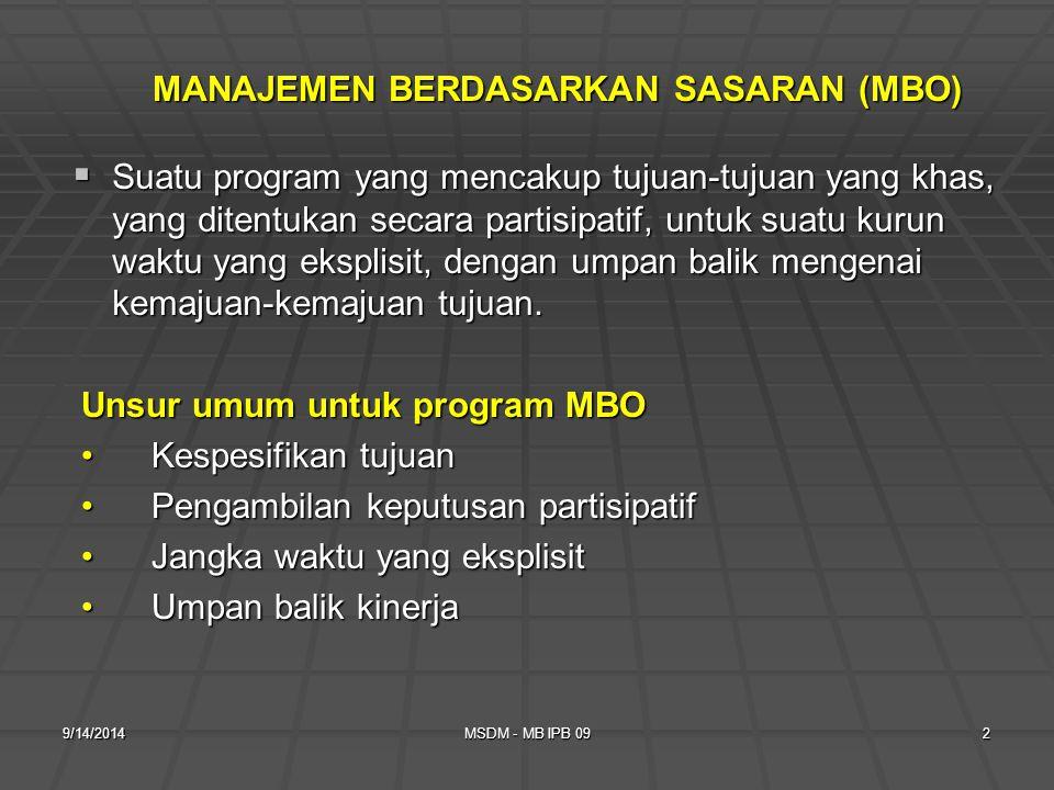 9/14/2014MSDM - MB IPB 091 KULIAH MINGGU KE-2 Etika dan komunikasi kinerja yang kontinue.