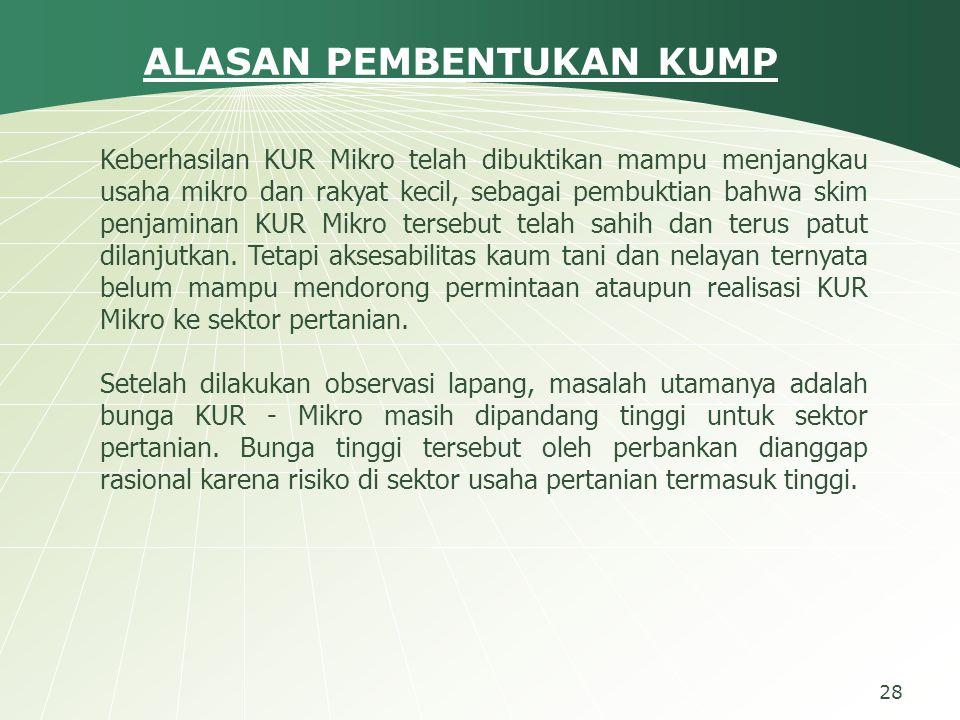 Keberhasilan KUR Mikro telah dibuktikan mampu menjangkau usaha mikro dan rakyat kecil, sebagai pembuktian bahwa skim penjaminan KUR Mikro tersebut telah sahih dan terus patut dilanjutkan.
