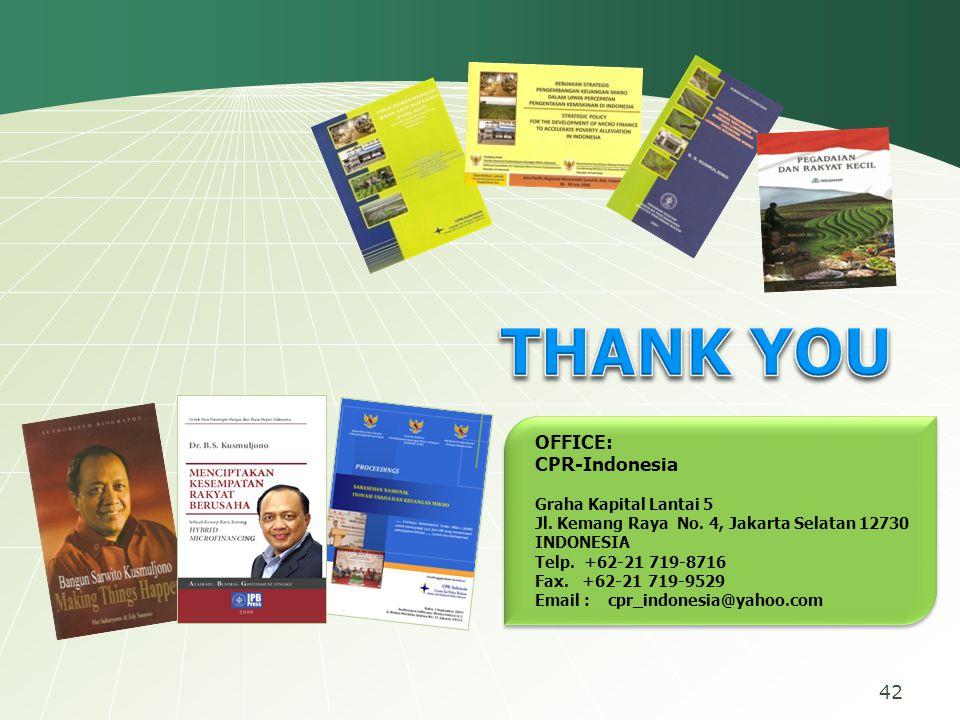 OFFICE: CPR-Indonesia Graha Kapital Lantai 5 Jl. Kemang Raya No. 4, Jakarta Selatan 12730 INDONESIA Telp. +62-21 719-8716 Fax. +62-21 719-9529 Email :