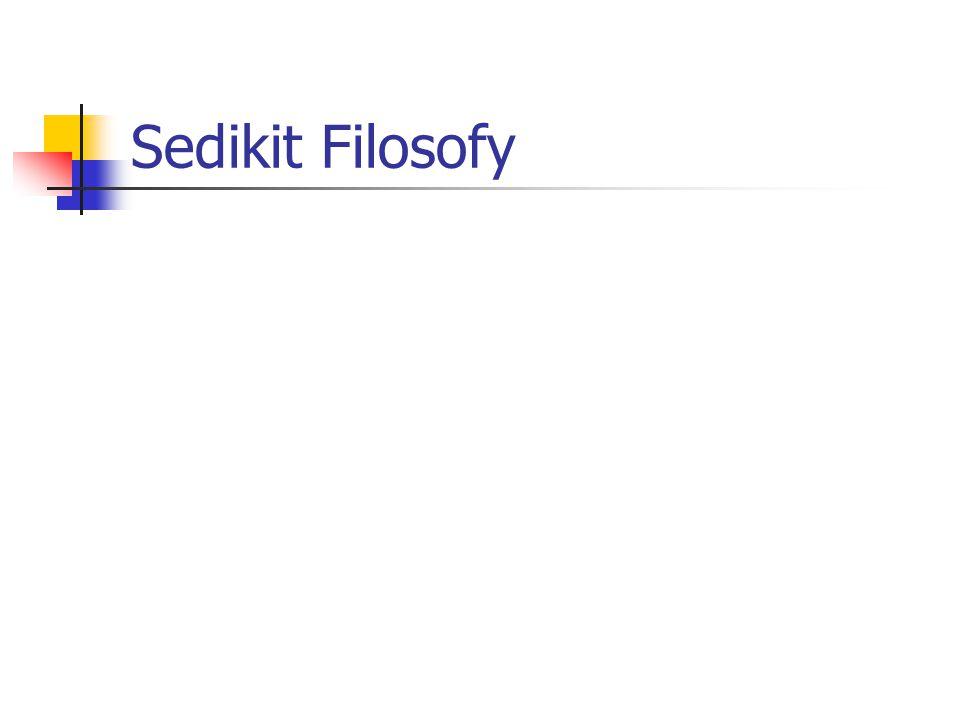 Sedikit Filosofy
