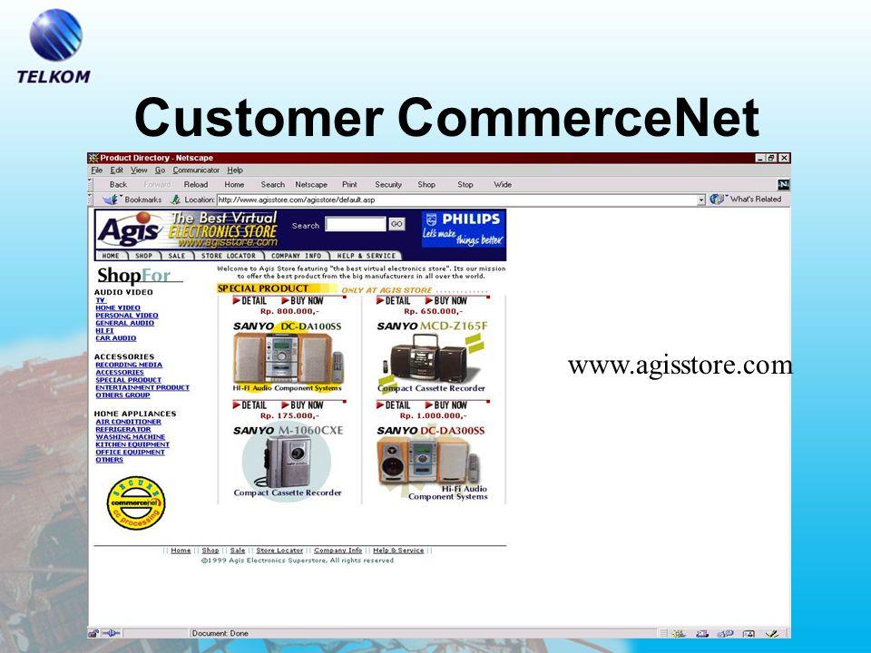 Benefit untuk Customer –Jangkauan Pemasaran yang lebih luas –24 hours, 7 days-a-week store –Time To Market yang lebih cepat –Penekanan Biaya Promosi dan Customer Services