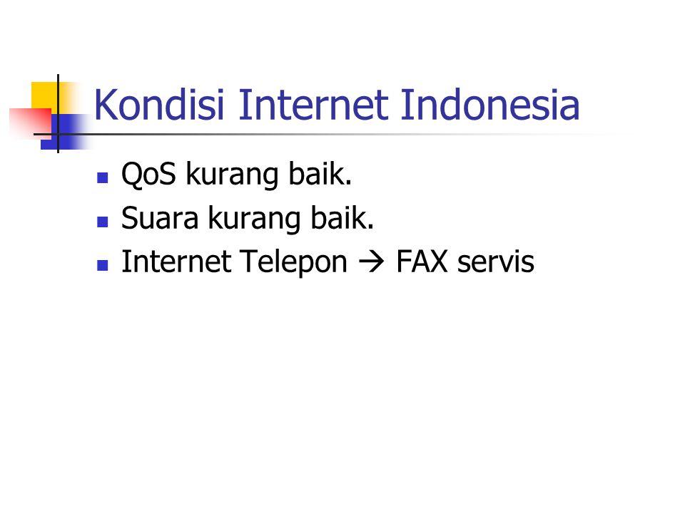 Kondisi Internet Indonesia QoS kurang baik. Suara kurang baik. Internet Telepon  FAX servis