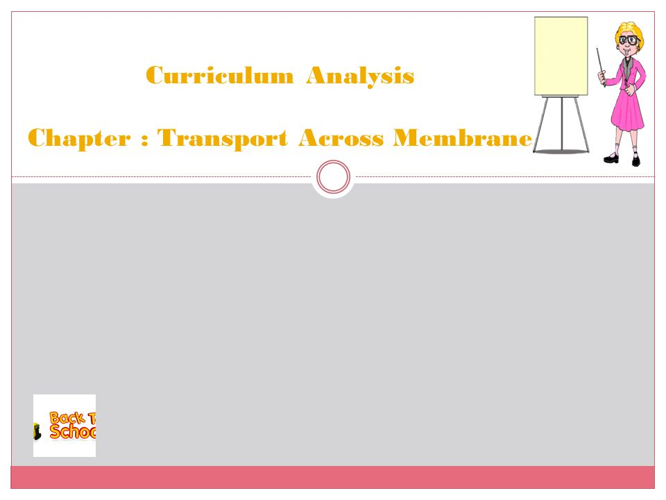 Curriculum Analysis Chapter : Transport Across Membrane