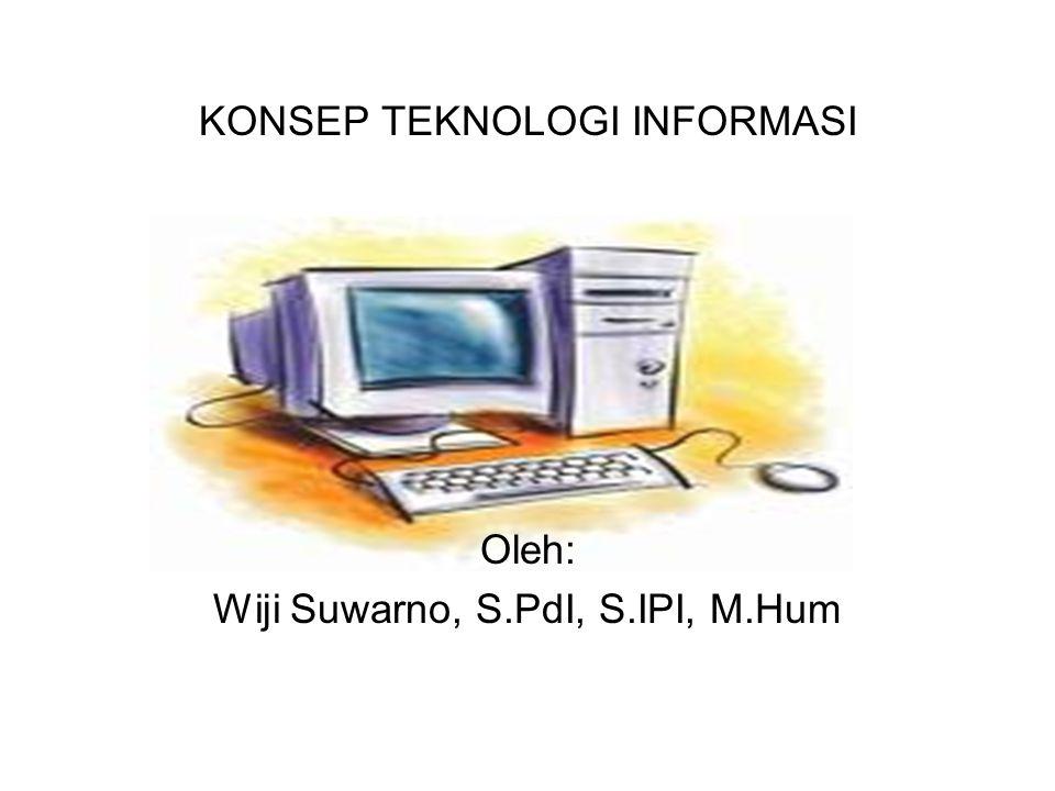 KONSEP TEKNOLOGI INFORMASI Oleh: Wiji Suwarno, S.PdI, S.IPI, M.Hum