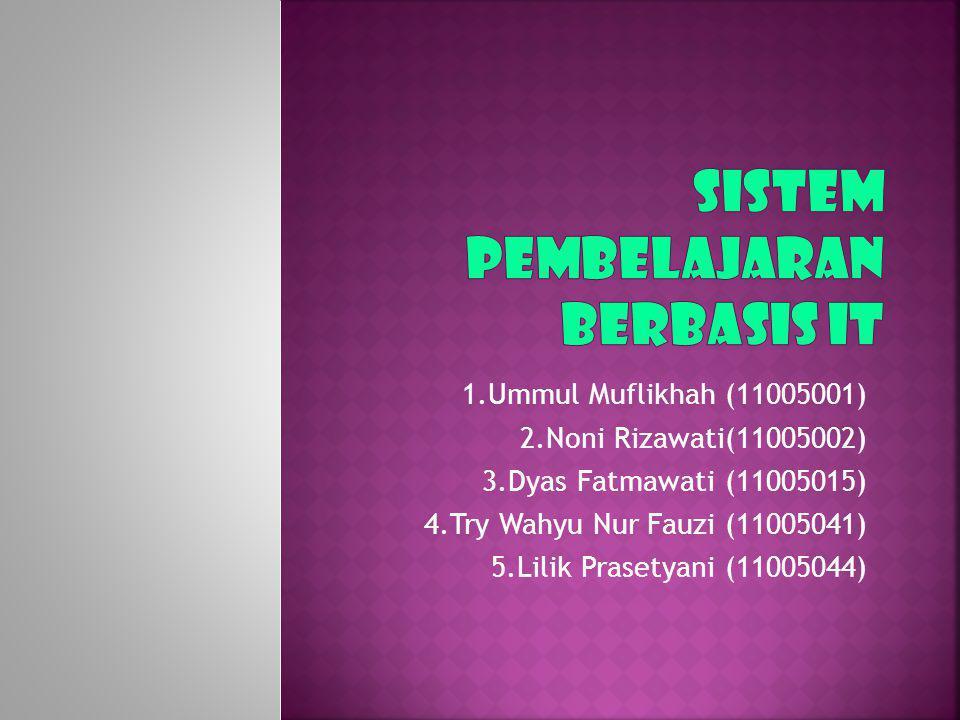 1.Ummul Muflikhah (11005001) 2.Noni Rizawati(11005002) 3.Dyas Fatmawati (11005015) 4.Try Wahyu Nur Fauzi (11005041) 5.Lilik Prasetyani (11005044)