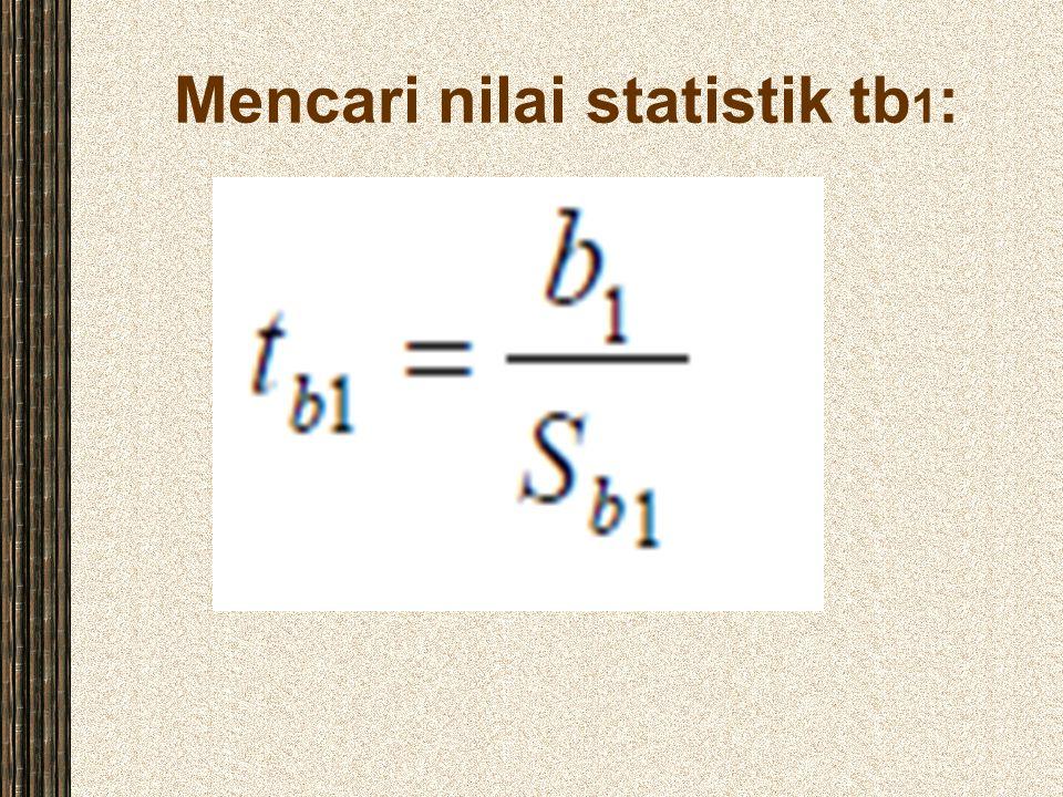 Mencari nilai statistik tb 1 :