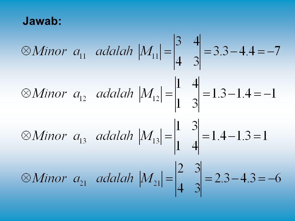 Contoh 1: Tentukanlah penyelesaian SPLDV dibawah ini dengan menggunakan metode invers matriks.