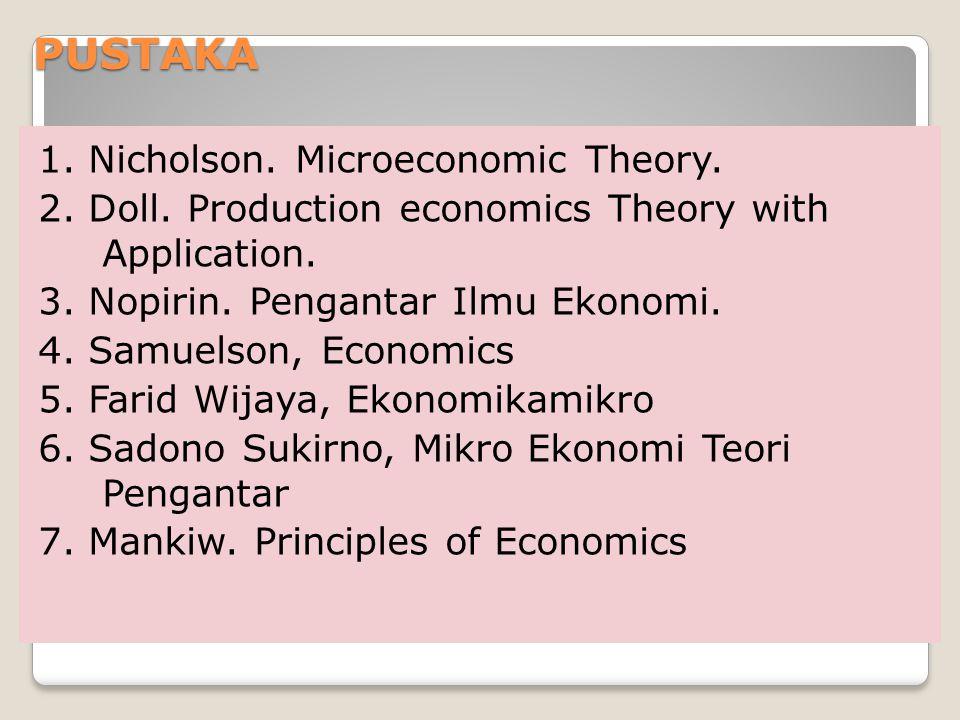 C.Prinsip kerja perekonomian keseluruhan 1.