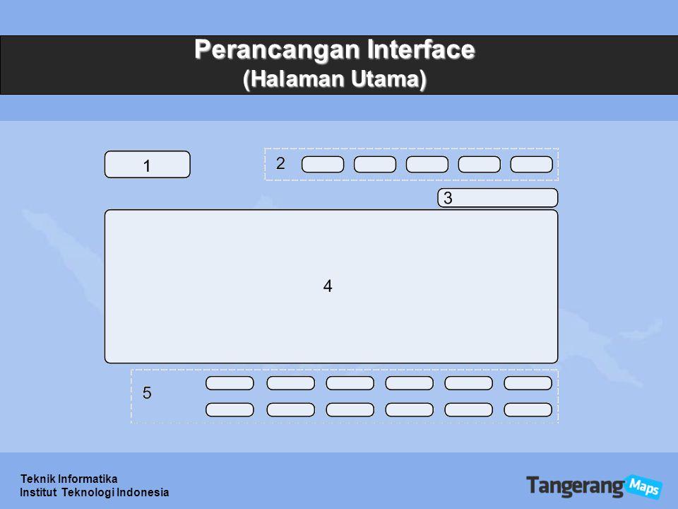 Teknik Informatika Institut Teknologi Indonesia Perancangan Interface (Halaman Utama)