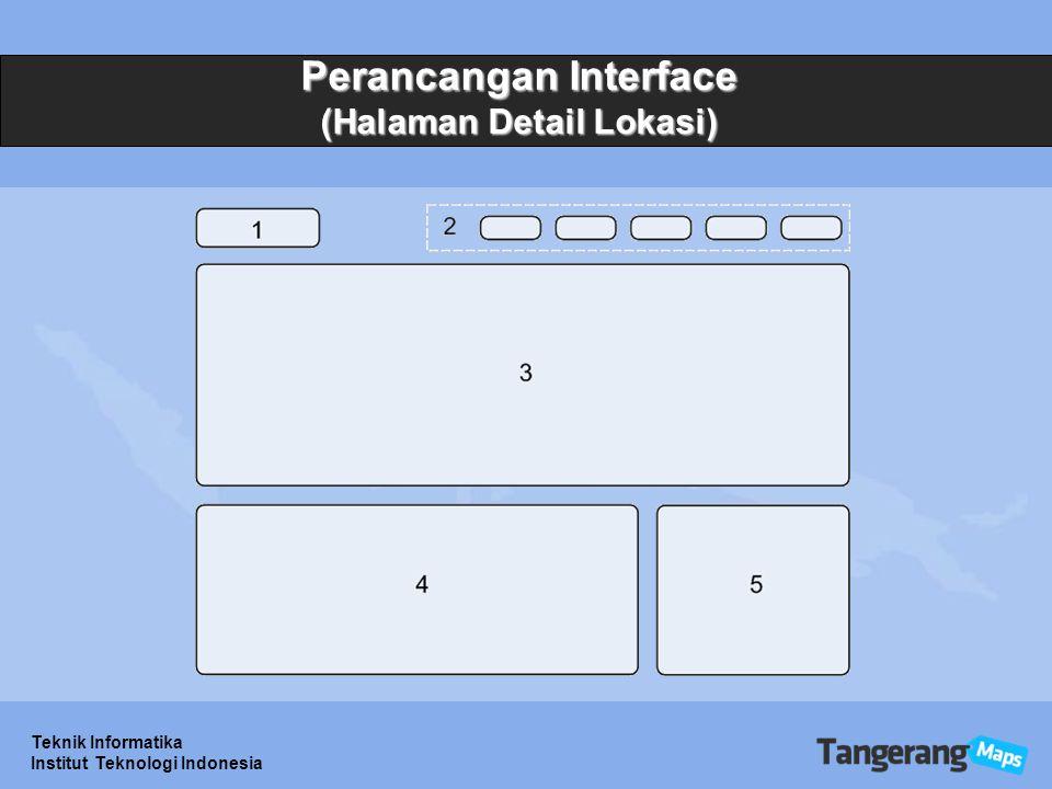 Teknik Informatika Institut Teknologi Indonesia Perancangan Interface (Halaman Detail Lokasi)