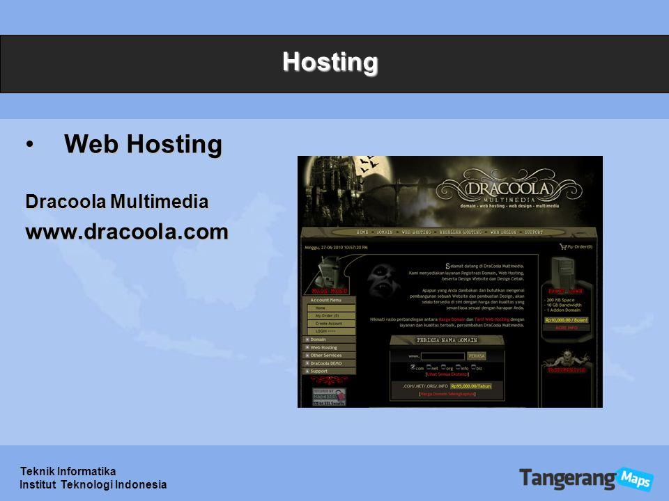 Teknik Informatika Institut Teknologi Indonesia Hosting Web HostingWeb Hosting Dracoola Multimedia www.dracoola.com