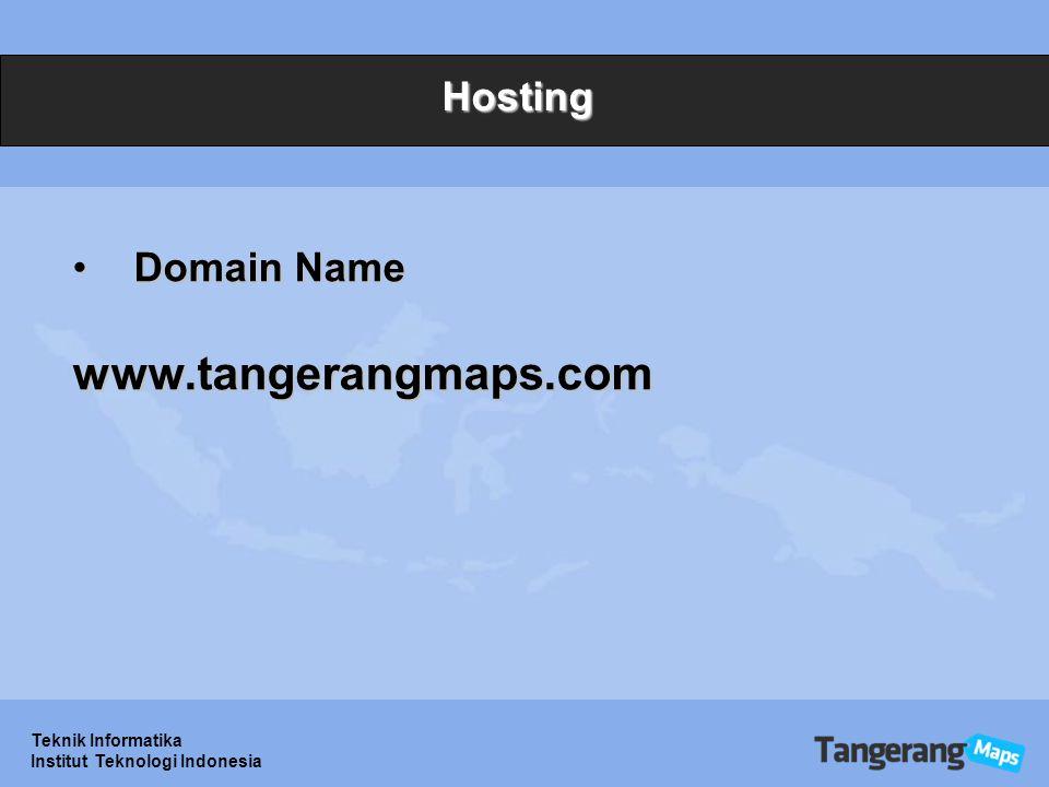 Teknik Informatika Institut Teknologi Indonesia Hosting Domain NameDomain Namewww.tangerangmaps.com