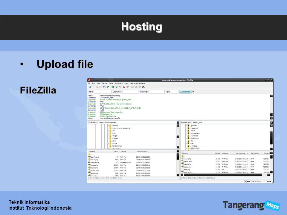 Teknik Informatika Institut Teknologi Indonesia Hosting Upload fileUpload fileFileZilla