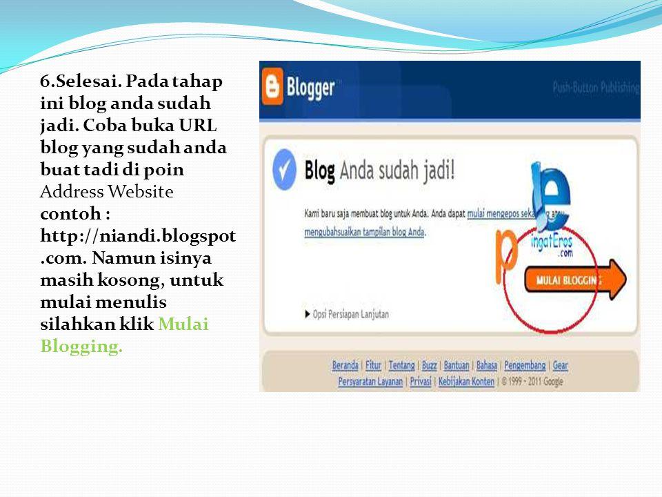 Sekarang kita mulai belajar untuk mengisi blog dengan tulisan kita.