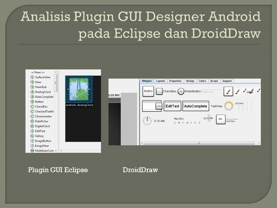 Plugin GUI EclipseDroidDraw