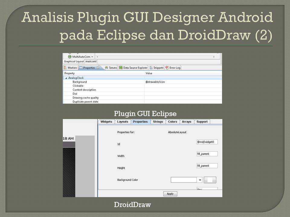 Plugin GUI Eclipse DroidDraw