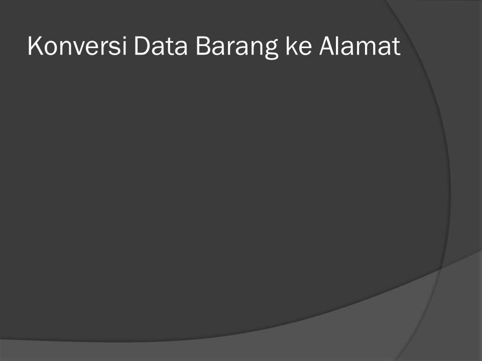 Konversi Data Barang ke Alamat