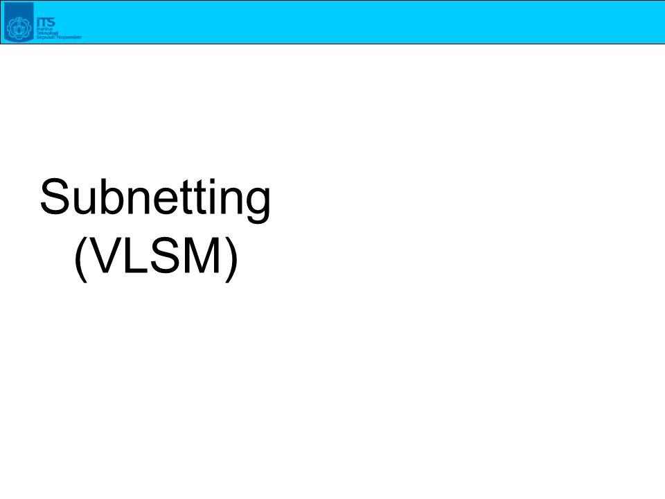 Subnetting (VLSM)