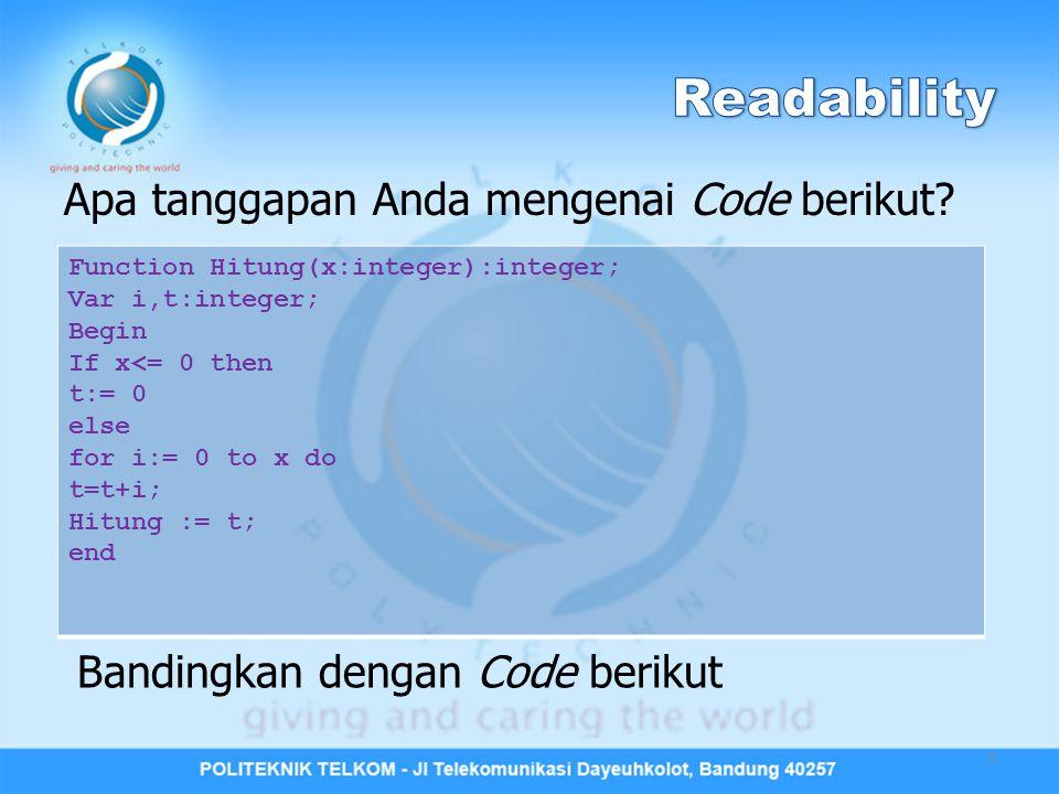 Apa tanggapan Anda mengenai Code berikut.