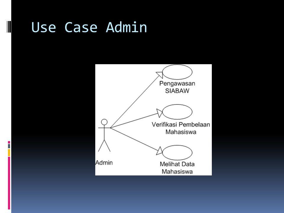 Use Case Admin
