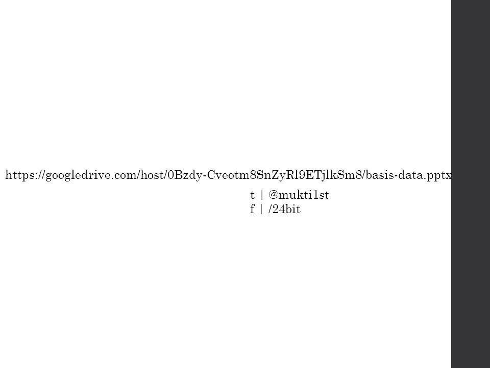t | @mukti1st f | /24bit https://googledrive.com/host/0Bzdy-Cveotm8SnZyRl9ETjlkSm8/basis-data.pptx