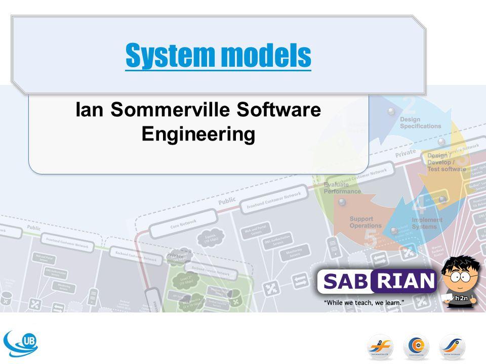 Tujuan Menjelaskan mengapa konteks dari sistem harus dimodelkan sebagai bagian dari Software Engineering Prosess Untuk Menjelaskan mode behavioural, data modelling, dan modelling object Memperkenalkan notasi UML
