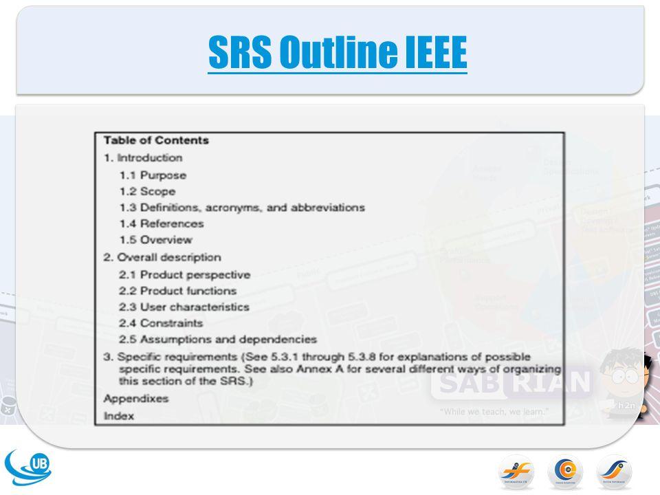 Tujuan ( Subbab 1.1 SRS) Pada subsection ini harus menggambarkan tujuan SRS dan menentukan audience yang dituju untuk SRS.