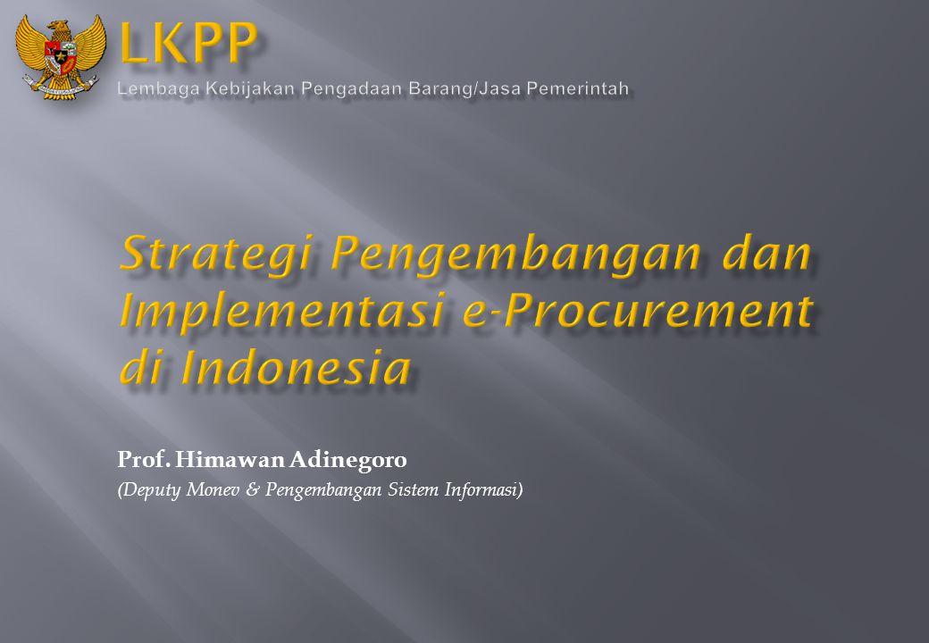 Prof. Himawan Adinegoro (Deputy Monev & Pengembangan Sistem Informasi)