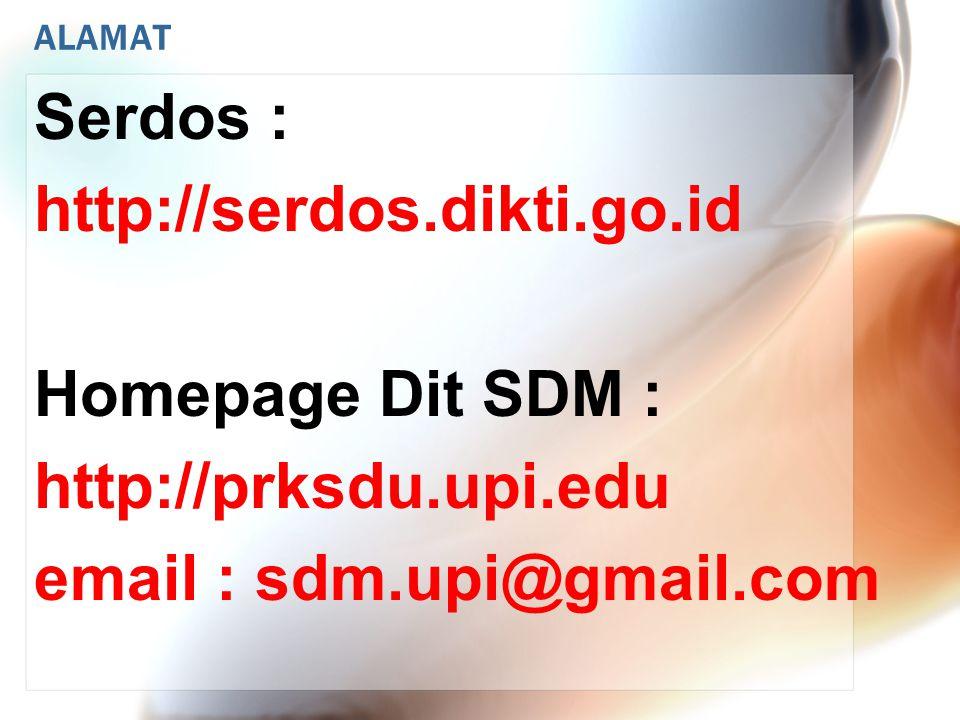JADWAL KEGIATAN SERDOS GELOMBANG 1 PENYUSUNAN PORTOFOLIO SERDOS s.d.