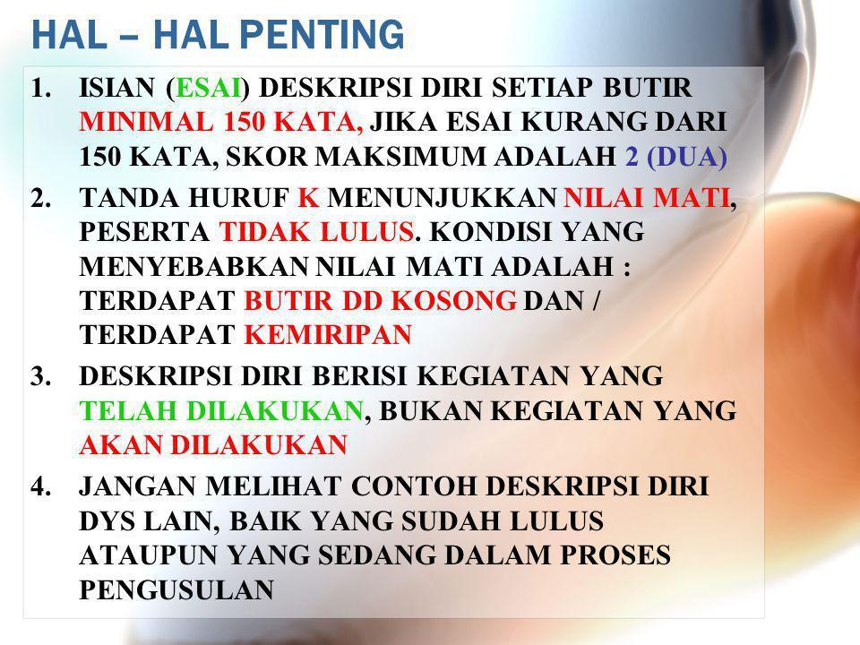 HAL – HAL PENTING 1.