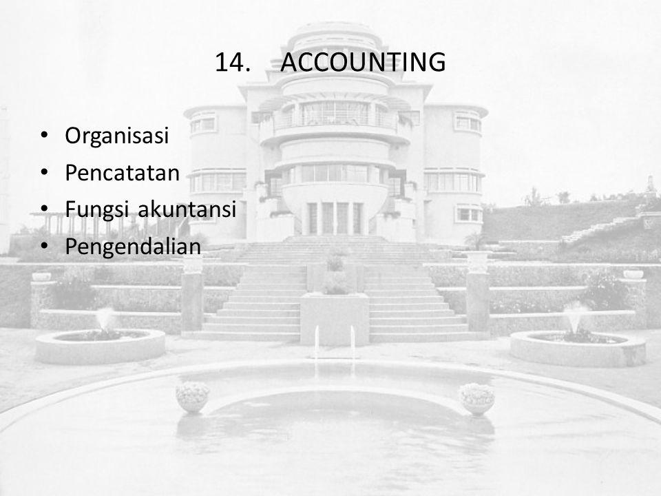 14.ACCOUNTING Organisasi Pencatatan Fungsi akuntansi Pengendalian