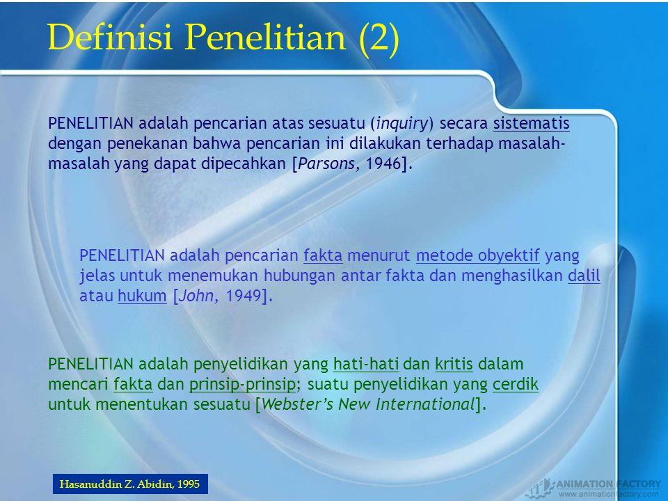 JENIS PENELITIAN Hasanuddin Z.