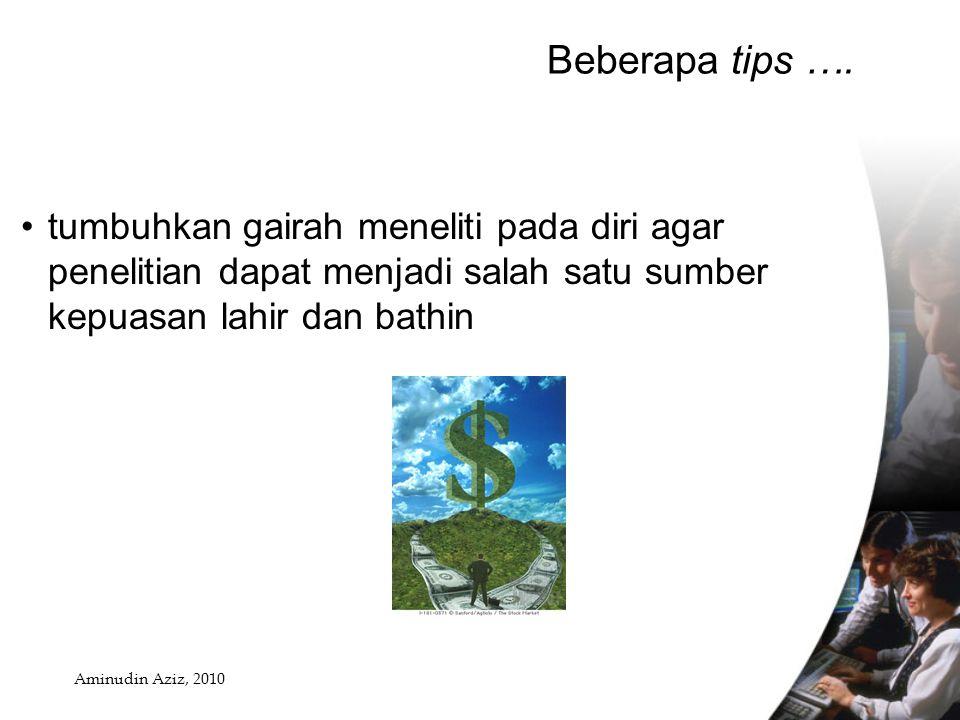 Beberapa tips ….