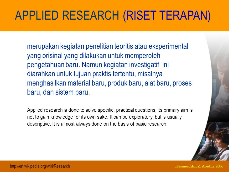 There are many instances when the distinction between basic and applied research is not clear.