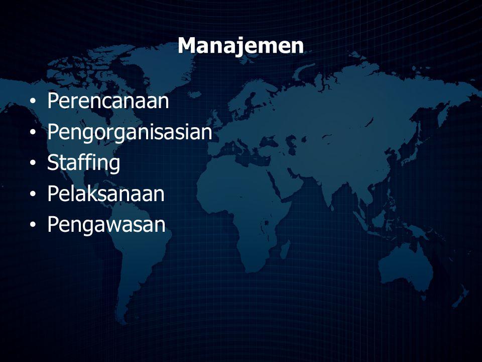 Manajemen Perencanaan Pengorganisasian Staffing Pelaksanaan Pengawasan