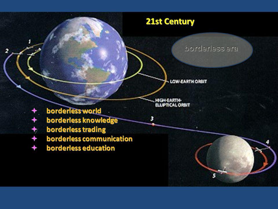 borderless era  borderless world  borderless knowledge  borderless trading  borderless communication  borderless education 21st Century