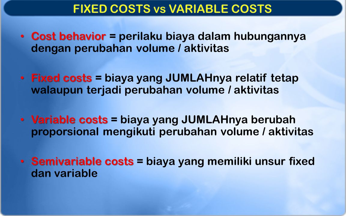 0250500 7501000 5000 10000 15000 20000 2500030000 Variable costs fixed costs