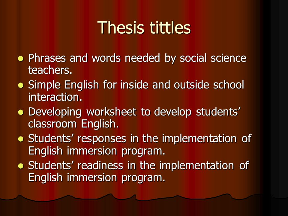 Thesis tittles Arabic loan words used by teachers and students in an Islamic Boarding School.