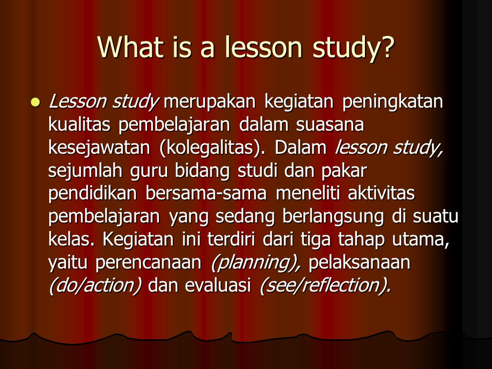 What is a lesson study.