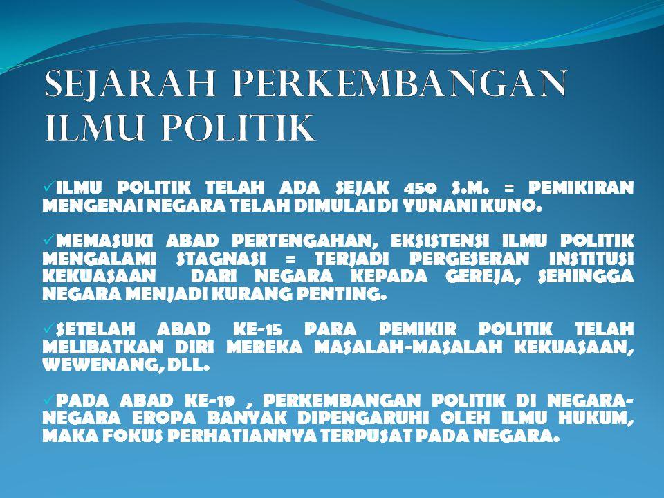 ILMU POLITIK ILMU POLITIK SEJARAH & PENDEKATAN LENI ANGGRAENI, S.PD., M.PD.