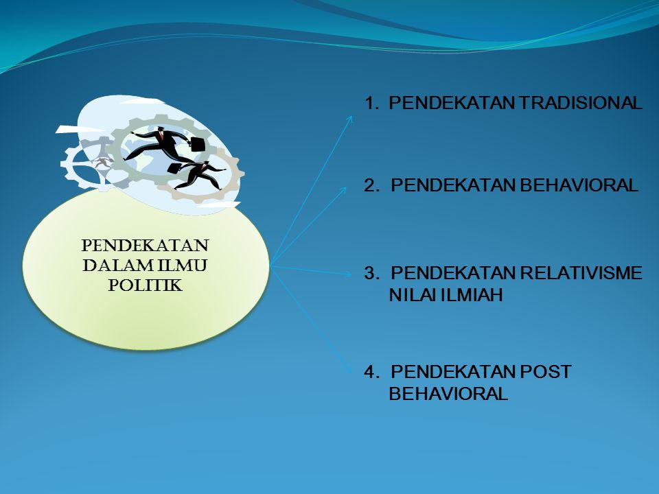 PENDEKATAN DALAM ILMU POLITIK 1.PENDEKATAN TRADISIONAL 2.